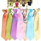 Classic Pure Colors Necktie Baby Toddler Kids Boys Girls Child Outfit Suit Tie