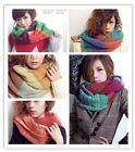 Fashion Women Winter Warm Knit Infinity Neck Circle Wool Cowl Long Scarf Shawl