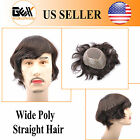 BHD Mens Toupee HairPiece Fine Mono+Wide PU Apollo Wig Replacement Systems