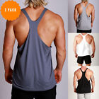 New Mens RACERBACK Gym bodybuilding Singlets Y back Muscle Tank ZYZZ 2 Pack