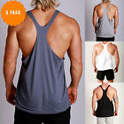 New Mens RACERBACK Gym bodybuilding Singlets Y back Muscle Tank ZYZZ 3 Pack