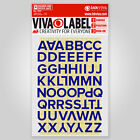 Inkviva 3D Iron On Letters Heat Transfer Alphabet Label Name Appliqué -Half Inch