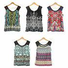 NWT Bila Women's Luxurious Beaded Sleeveless Tee Flattering Top Stylist Shirt