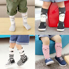 Korean Style Toddlers Baby Kids Girls Combed Cotton Knee High Socks 0-4 Years