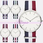A+ Mens Womens Ultrathin Watch Sport Quartz Canvas Straps Dress Wrist Watch New