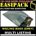 GREY MAILING MAIL BAGS SACKS strong poly plastic for Postage Postal *ALL SIZES*