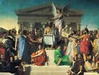 Neoclassic French Academicl Art Print: The Apotheosis of Homer by Ingres, 1827