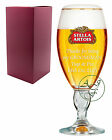 Personalised 1 Pint STELLA ARTOIS Branded Beer Glass Chalice Groomsman Wedding