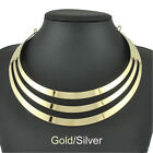 New Women Multi Layer Metal Choker Necklace Statement Bib Collar Neck Jewelry