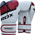 RDX Leather Boxing Gloves Training Muay Thai Punching Bag Gel Sparring Glove