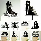 Mr&Mrs Bride & Groom Wedding Cake Topper Love Silhouette Party Favors Decoration