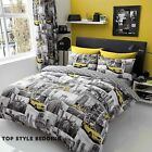 New York Patchi Duvet Set Quilt Cover Pillow Case Bedding Sets Single Doubl king