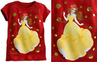 BELLE T-SHIRT FOR GIRLS~DISNEY STORE~ BEAUTY AND THE BEAST