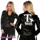 Grease Sandy T Birds Black Womens Jacket Lady 50s Costume T-Birds Frenchie Rizzo