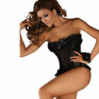 STUNNING 3 PIECE SET, BUSTIER, SUSPENDER SET AND THONG, ALL SIZES.