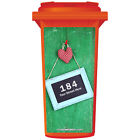 YOUR HOUSE NUMBER / STREET NAME ON A CUSTOM WHEELIE BIN STICKER PANEL (WPB-0322)