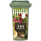YOUR HOUSE NUMBER / STREET NAME ON A CUSTOM WHEELIE BIN STICKER PANEL (WPB-0323)