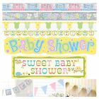 BABY SHOWER BANNERS - Unisex Decorations, Foil, Jointed, Bunting & Giant banners