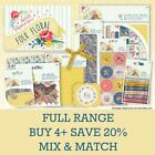 FOLK FLORAL Papermania Docrafts Vintage Paper Craft Collection Full Range