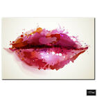 Fashion Lips   BOX FRAMED CANVAS ART Picture HDR 280gsm