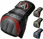 Home gyms boxing - RDX Leather Tech MMA UFC Grappling Gloves Fight Boxing Punch Bag Training Kick B