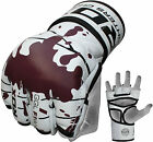 RDX Grappling Gloves Gel Tech Leather MMA Glove UFC Fight Boxing Punch Bag