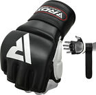 RDX Leather Gel Tech MMA 7 oz Grappling Gloves Fight Boxing UFC Punch Bag GK