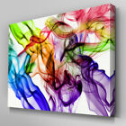 AB406 Rainbow Coloured Smoke Haze Canvas Wall Art Ready to Hang Picture Print