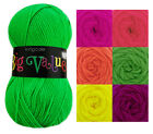 King Cole Big Value Neon Double Knitting Yarn 100% Acrylic DK Wool 100g Ball