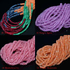 """2x3mm Multi-color Faceted Agate roundlle Gemstone Loose Beads 16"""""""