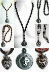"ETHNIC INSPIRED MENS HEMATITE OR STAINLESS STEEL LION PENDANT 16""-40"" NECKLACE"