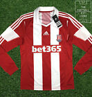 Stoke City Home Shirt - Official Adidas Football Long Sleeved Shirt - All Sizes