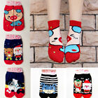 Women Winter Fleece Christmas Santa Claus Snowman Warm Thick Wool Socks Xmas