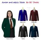 "32"" - 52"" Ladies Formal Blazer Smart Jacket Black Royal Bottle Green Maroon Navy"