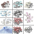 10-100pcs 9.5mm Press Studs Snap Fasteners Popper in Pink, White or Blue Prongs