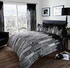 NEW Black White New York Skyline Printed Bedding Bed Duvet Set All Sizes