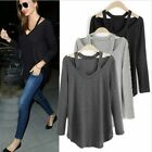 New Womens Loose Cotton Tops Blouse Long Sleeve T Shirt Fashion Casual Shirts