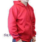 Men Unisex Solid Full Zip Up Hoodie Classic Zipper Hooded Sweatshirt Size S-5XL
