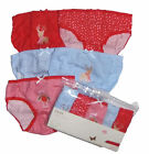Christmas 5 pack girls briefs/pants Ex Store 100% Cotton Quality 3y-12yrs RRP £6