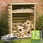 NEW WOODEN FIRE LOG STORE LOGSTORE IN 2 STORAGE SIZES