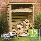 NEW 4FT 7FT WOODEN FIRE LOG STORE PRESSURE TREATED LOGSTORE 2 SIZES