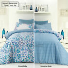 Reversible Quilt Cover Set Aquatic Aqua by Apartmento SINGLE DOUBLE QUEEN KING