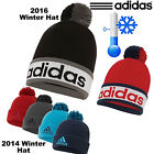 ADIDAS BOBBLE HAT NEW 2016 BEANIE CLIMAHEAT POM POM HAT GOLF HAT MENS WOOLY HAT