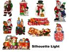 Pre Lit Christmas Lights 20 Bulbs Window Decoration Silhouette Xmas Indoor Light