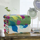 70*140cm White/Green Floral New Cotton Luxury Soft Bathing Towel Fast Drying 1Pc
