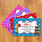 Magnetic Personalised Boys & Girls Birthday Party Invites Twins / Friends Party