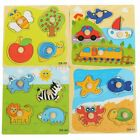 Children Kids Cartoon Animal Wooden Jigsaw Learning Educational Puzzle Block Toy