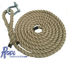 "Natural Gym Climbing Rope, Fitness, Indoor, Tree With 6"" Soft Eye & Shackle"