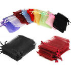 100pcs Premium ORGANZA Candy Wedding Favour GIFT BAGS Jewellery Pouches Choose