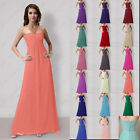 Floor length Bridesmaid Evening Formal Party Prom Gown Ball Empire Dresses
